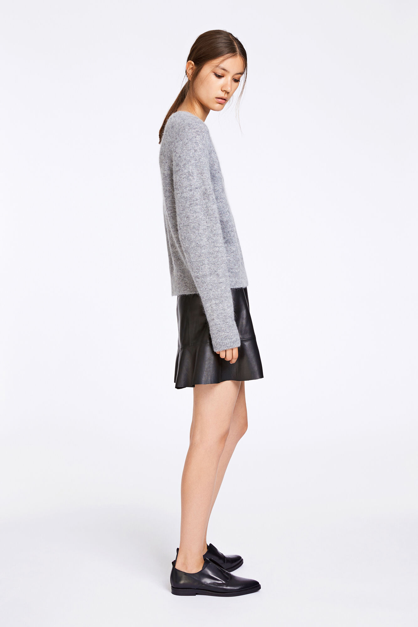 Nor o-n short 9632, GREY MEL.