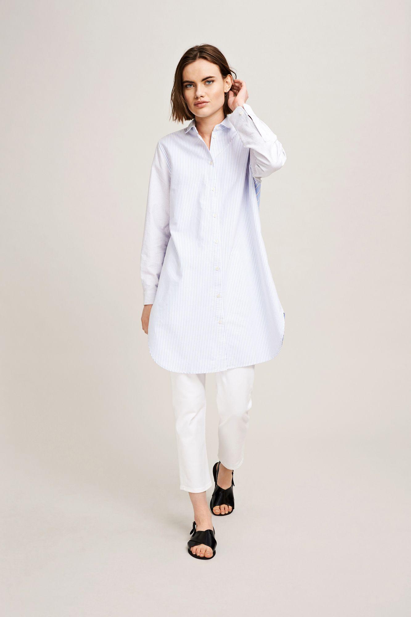 Nubia long shirt 9957, MULTI BLUE ST