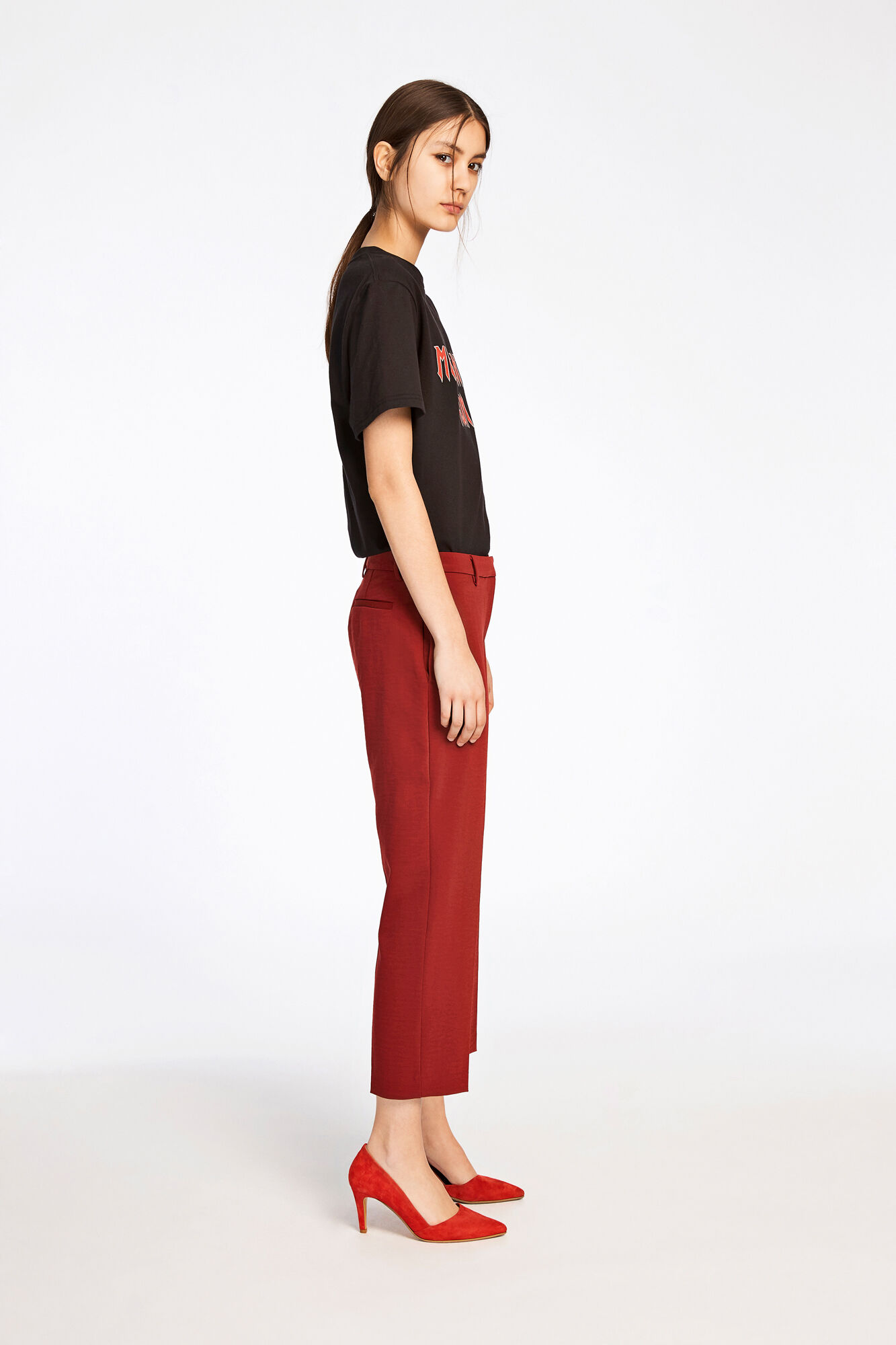 Louise crop pants 8281, SYRAH