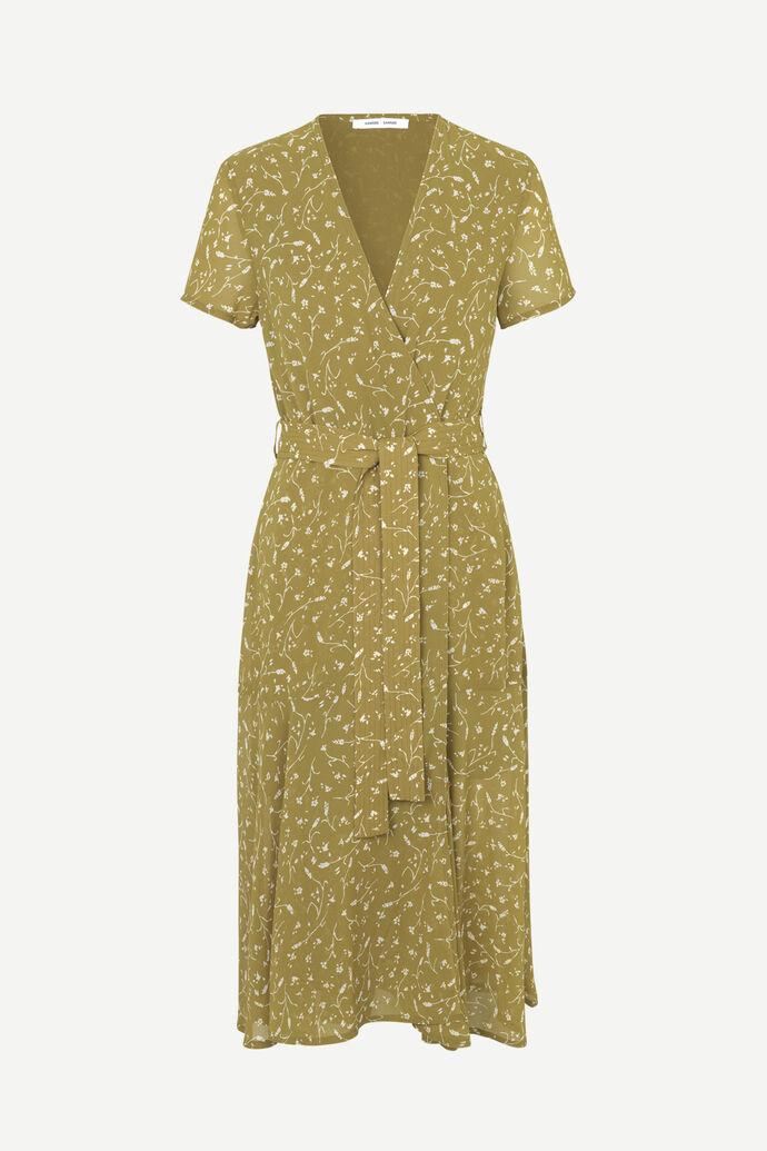 Klea long dress aop 6621, FEUILLES KHAKI
