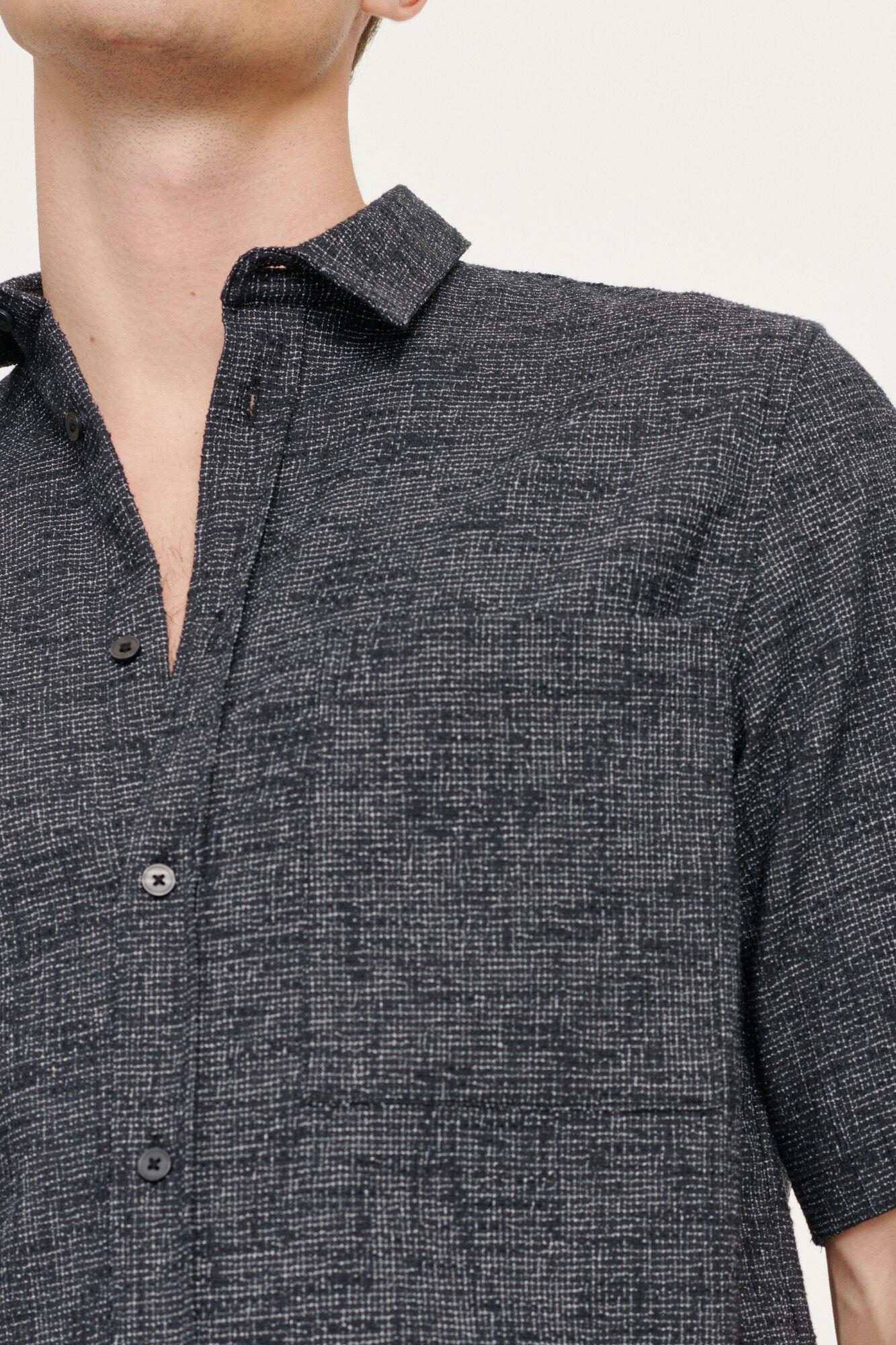 Taro NO shirt 11529, BLACK MEL.