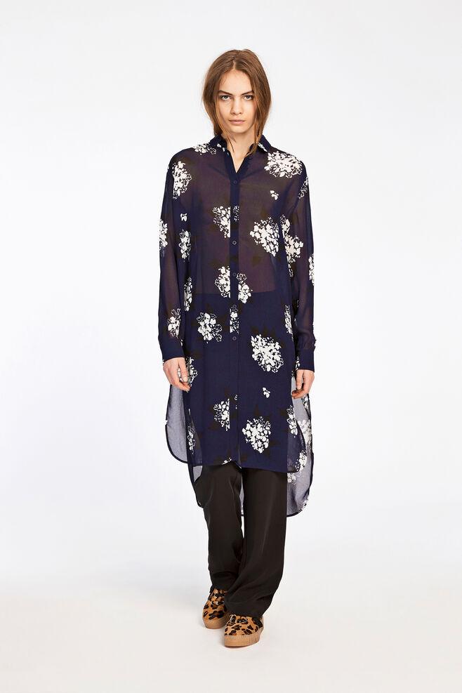 Riss shirt dress aop 3902, FLORASION BLEU