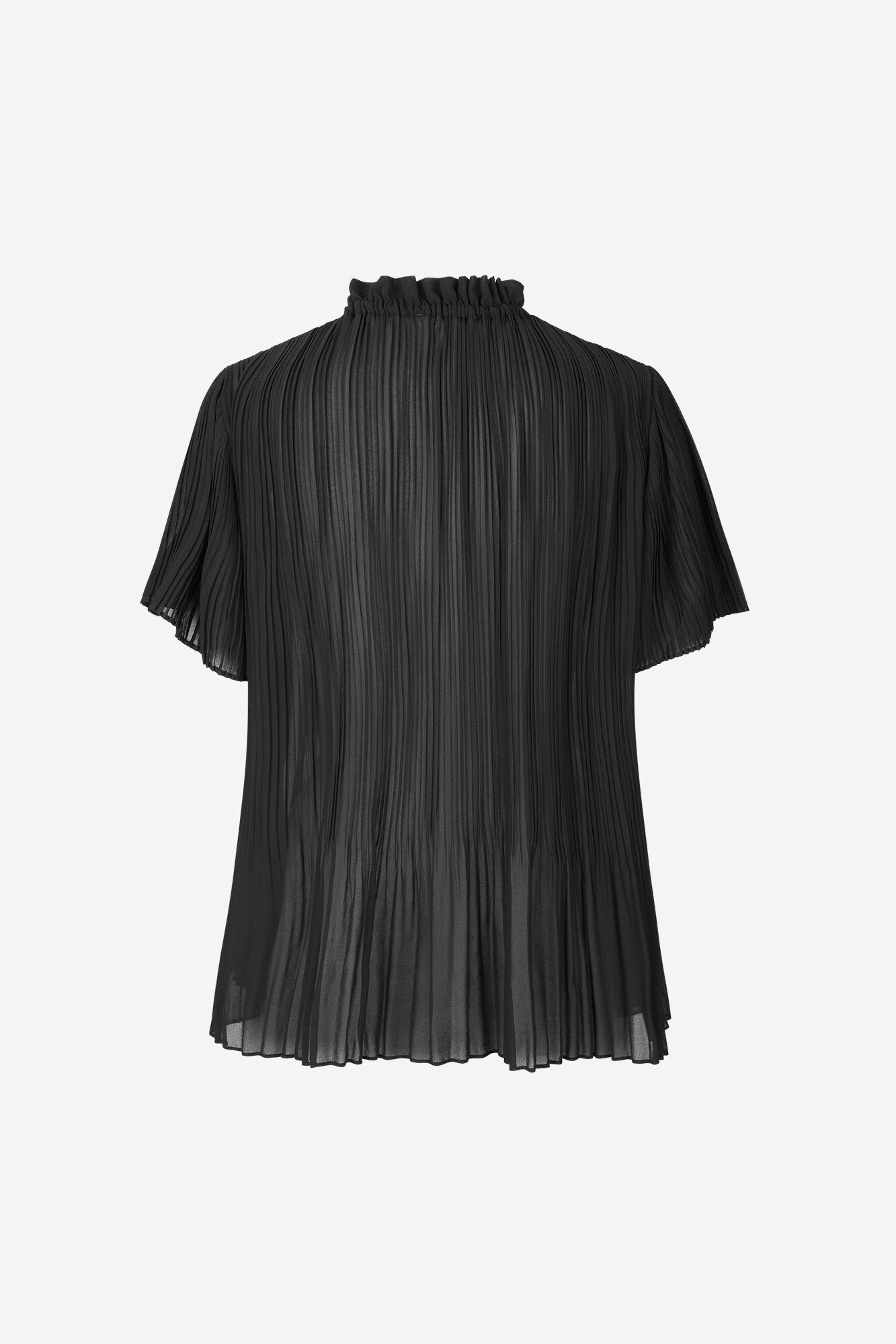 Lady ss blouse 6621, BLACK