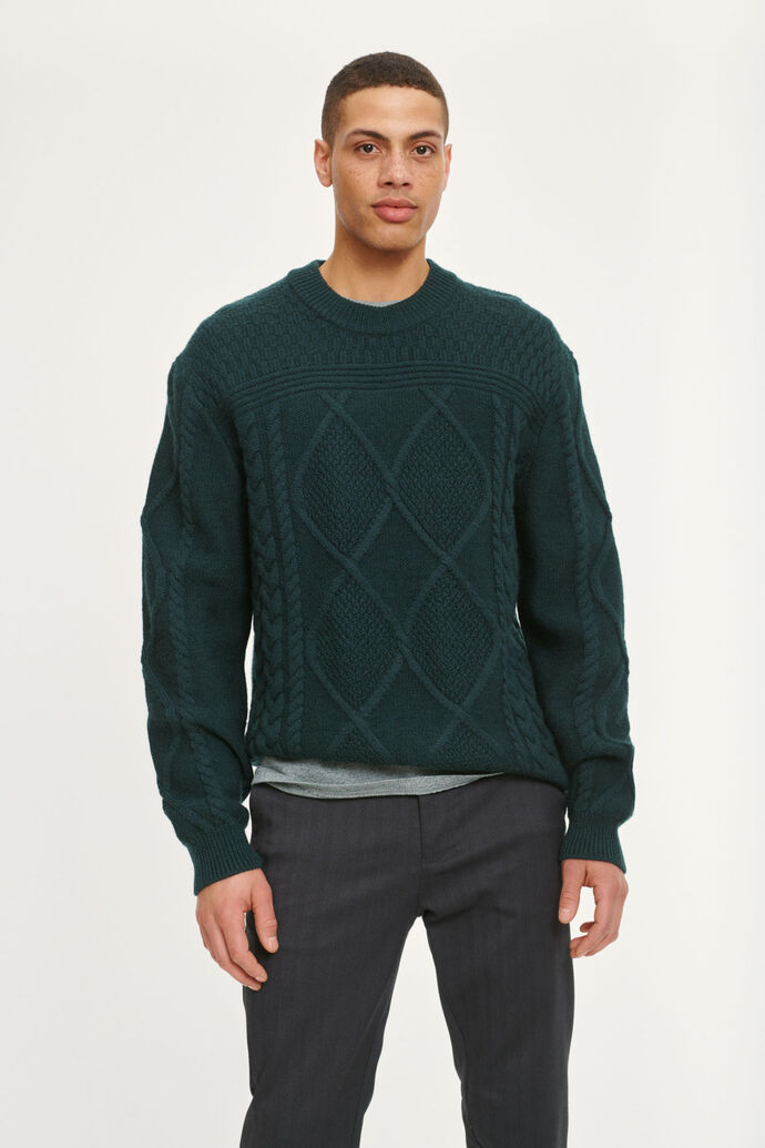 Neil cable crew neck 11091