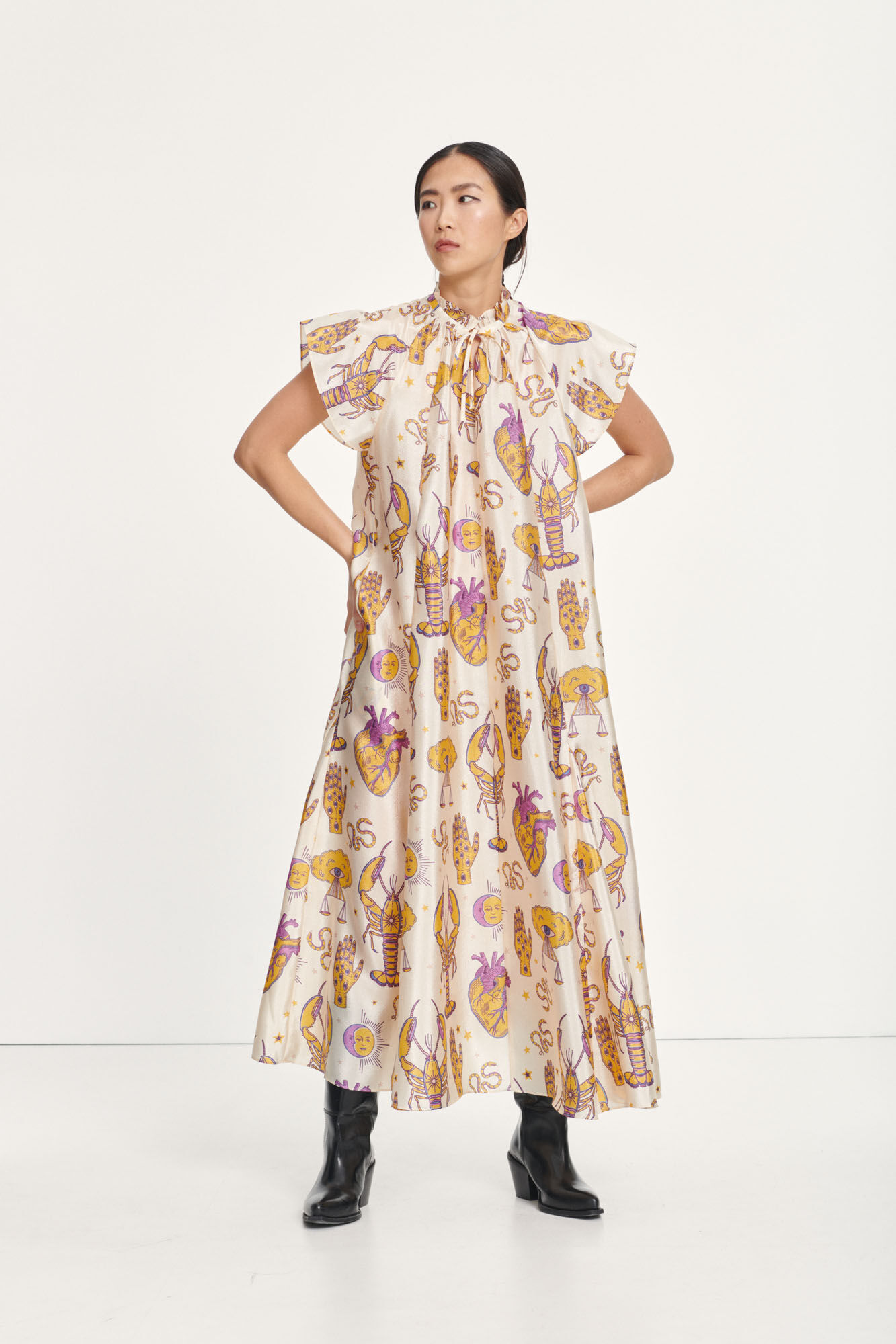 Karookh long dress aop 11244