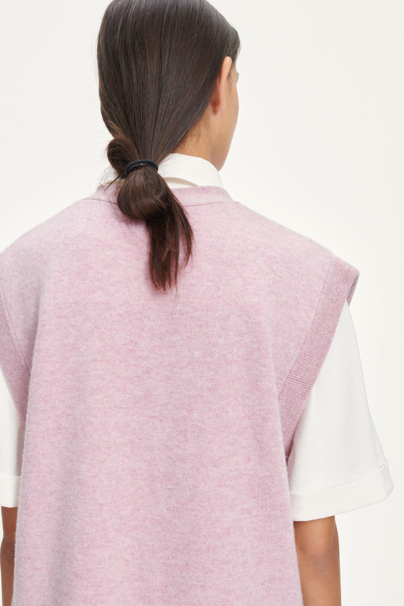 Amaris cardigan vest 12758, MAUVE SHADOW MEL.