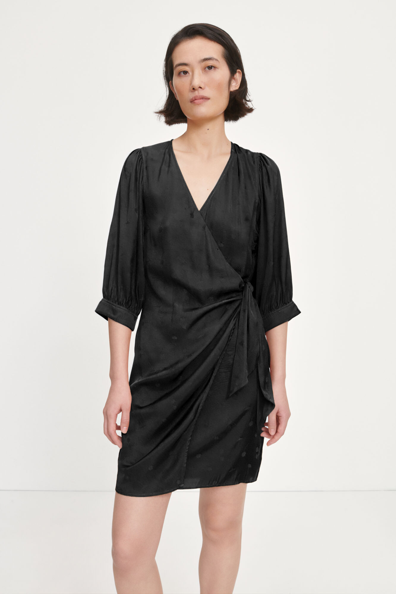 Celestina wrap dress 14025, BLACK