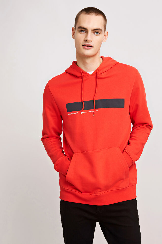 Rapp hoodie 10104, HIGH RISK RED