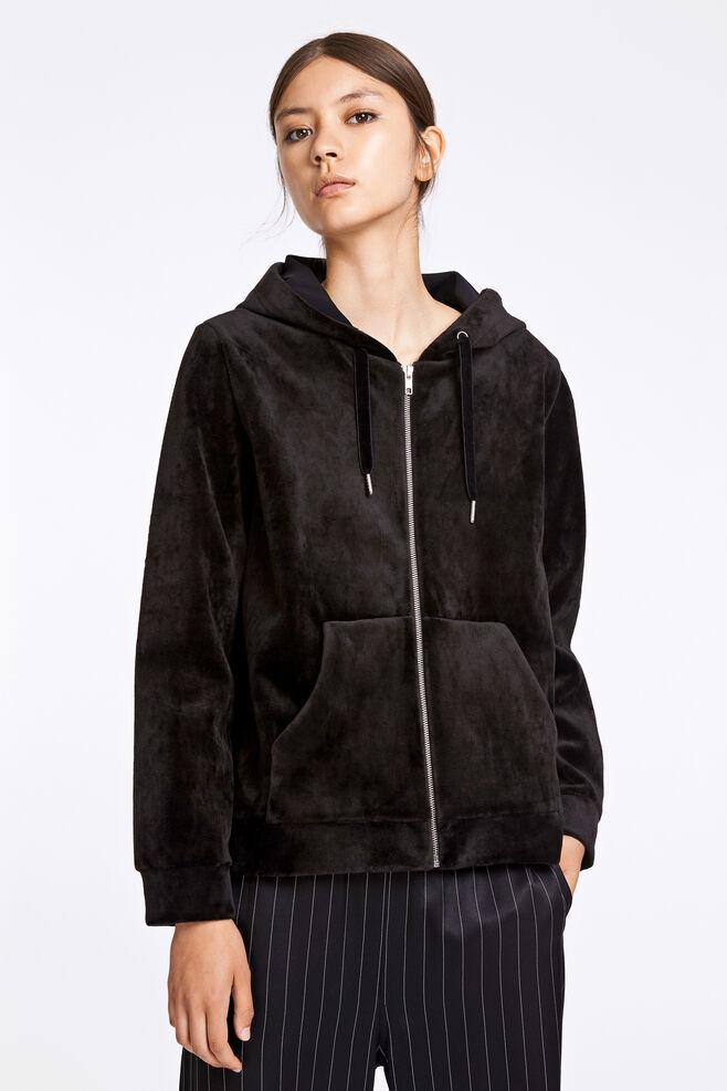 Kaci zip hoodie 9545, BLACK