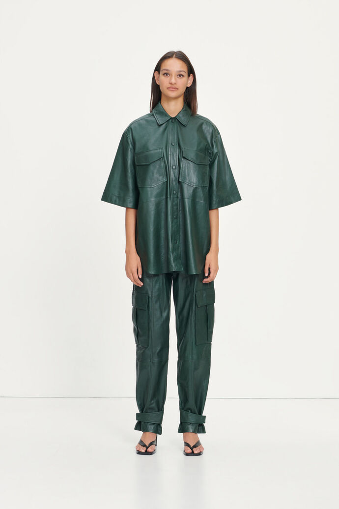 Citrina trousers 12896, KAMBU GREEN