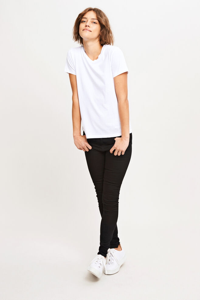 Solly tee solid 205, WHITE