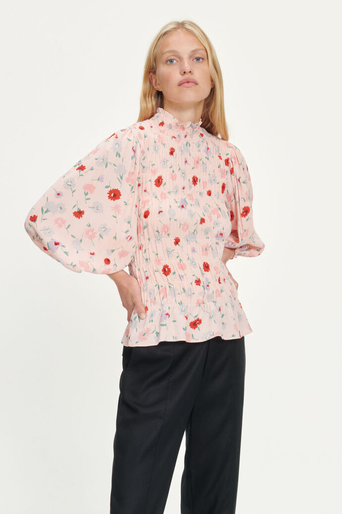 Sarami blouse aop 13018, PINK GARDEN