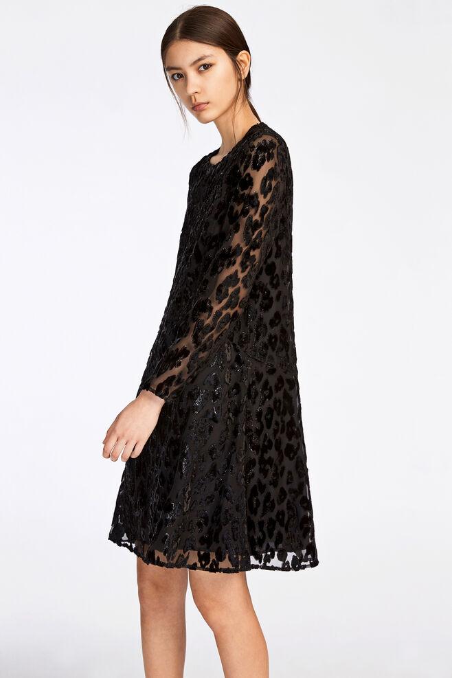 Kayla ls dress 9308, BLACK