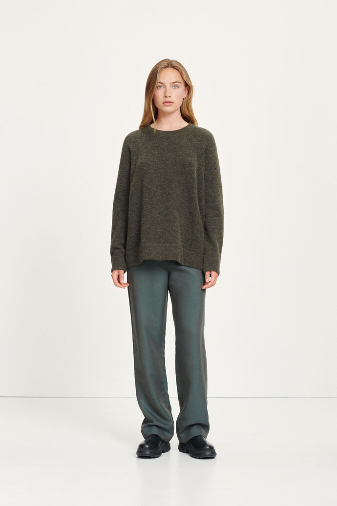 Hoys f trousers 13005, BLACK OLIVE