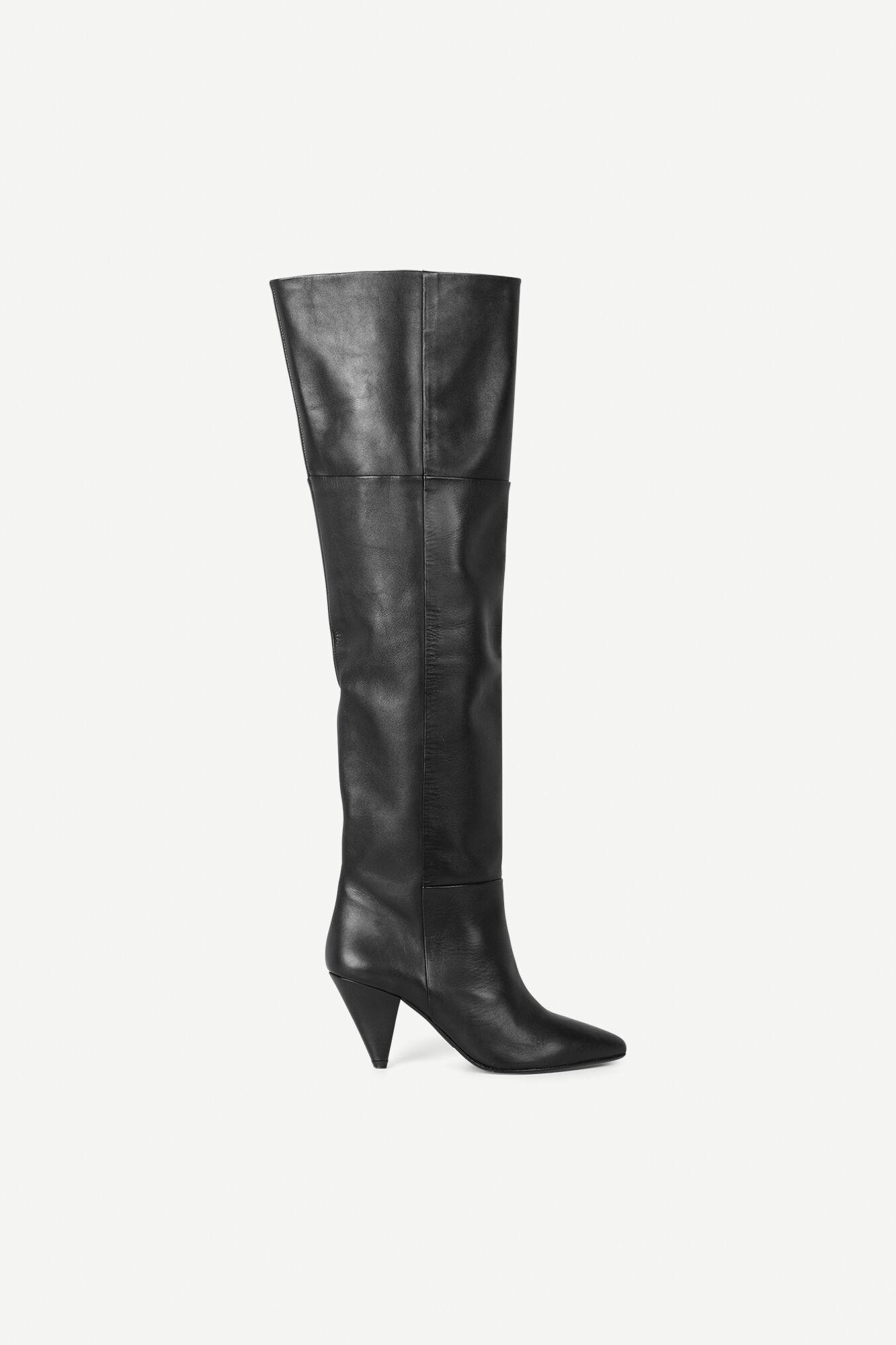 Myrassa boot knee 7556, BLACK