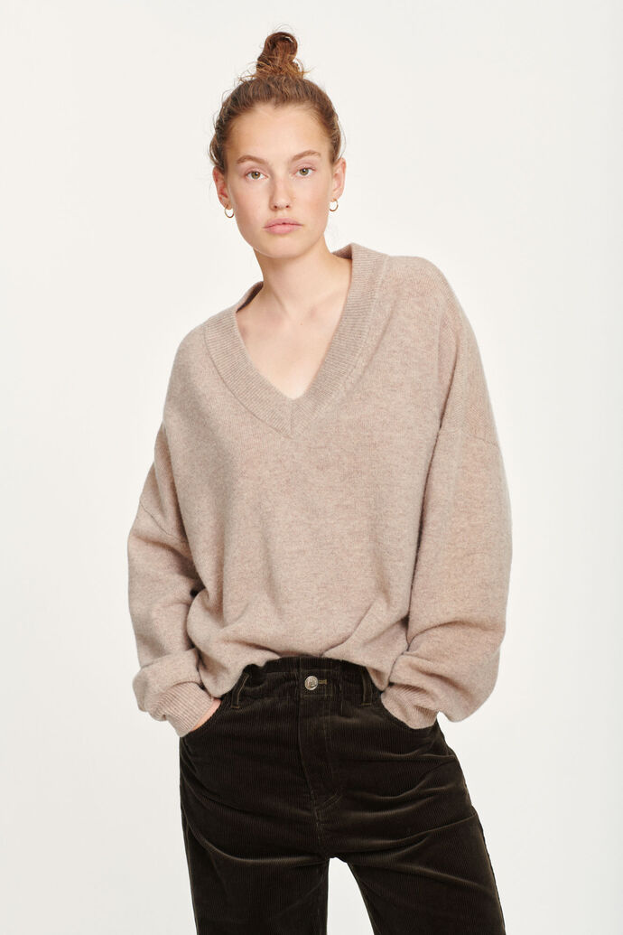 Amarista v-neck 12758, WARM GREY MEL.
