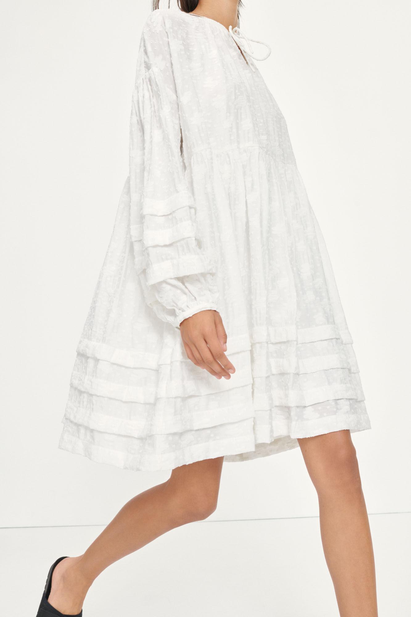Roya short dress 13085, BRIGHT WHITE