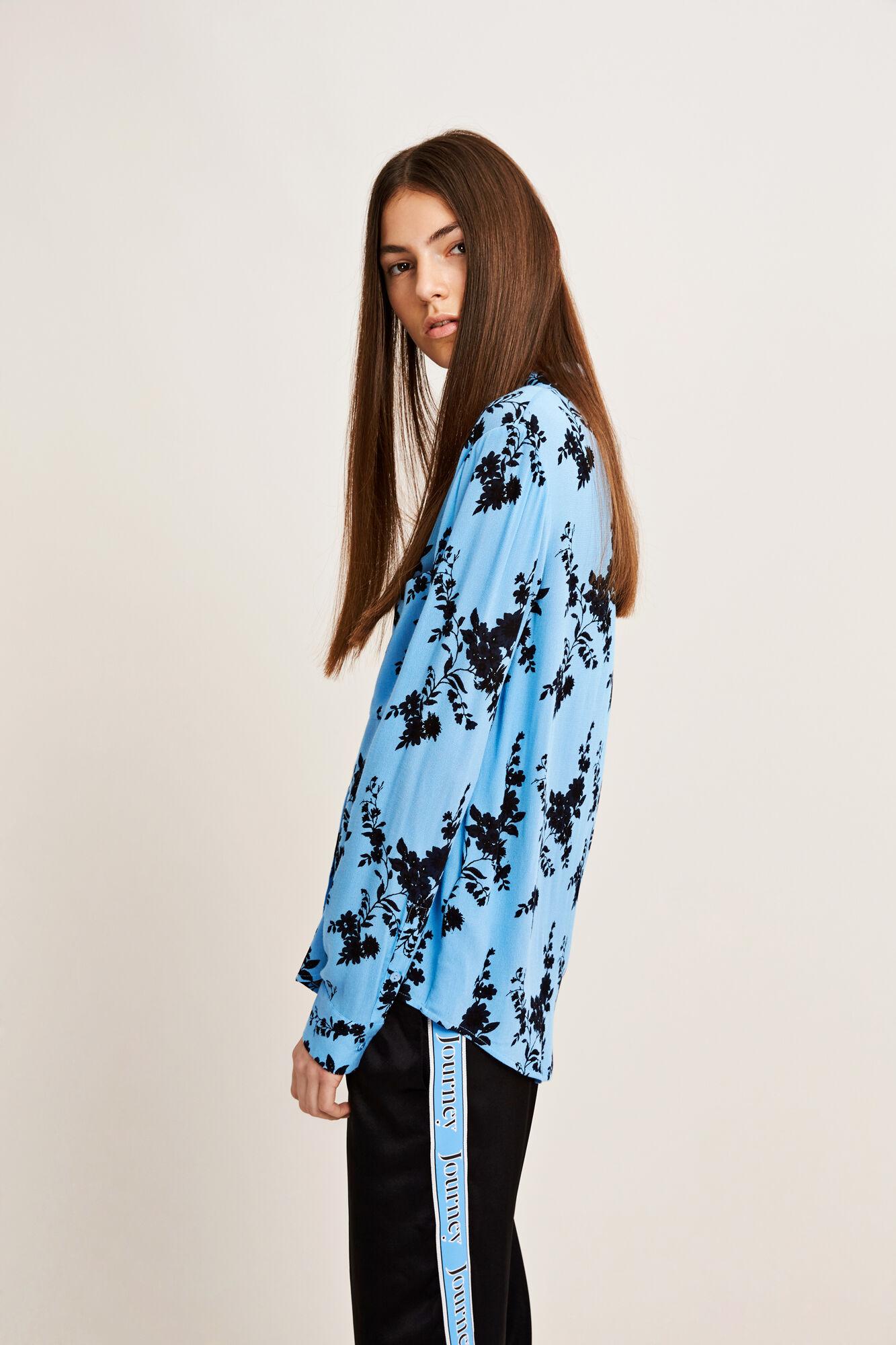 Milly shirt aop 7201, BLUE BLOOM