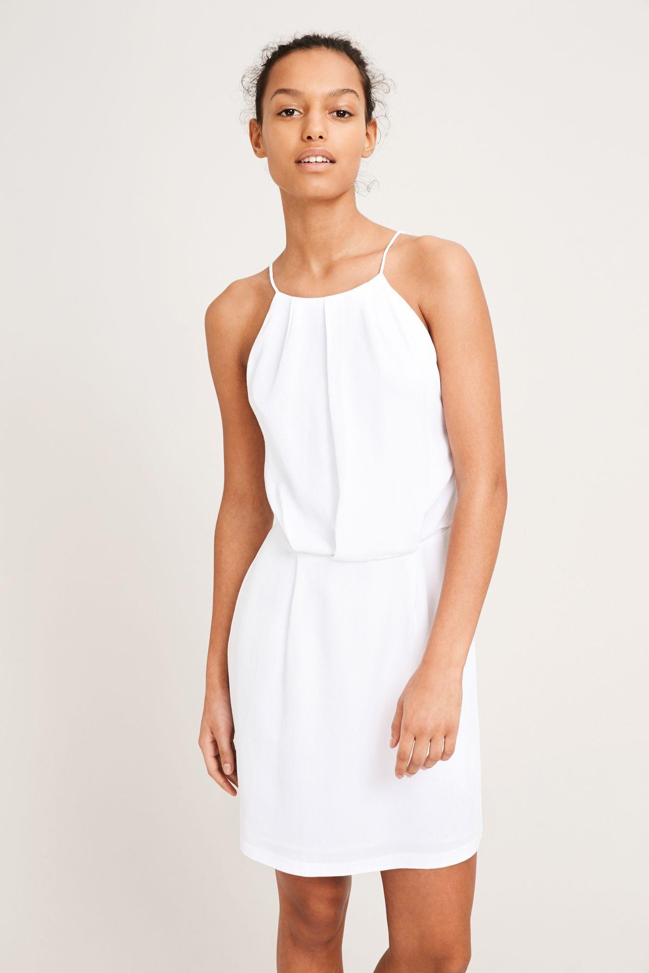 Willow short dress 5687, WHITE