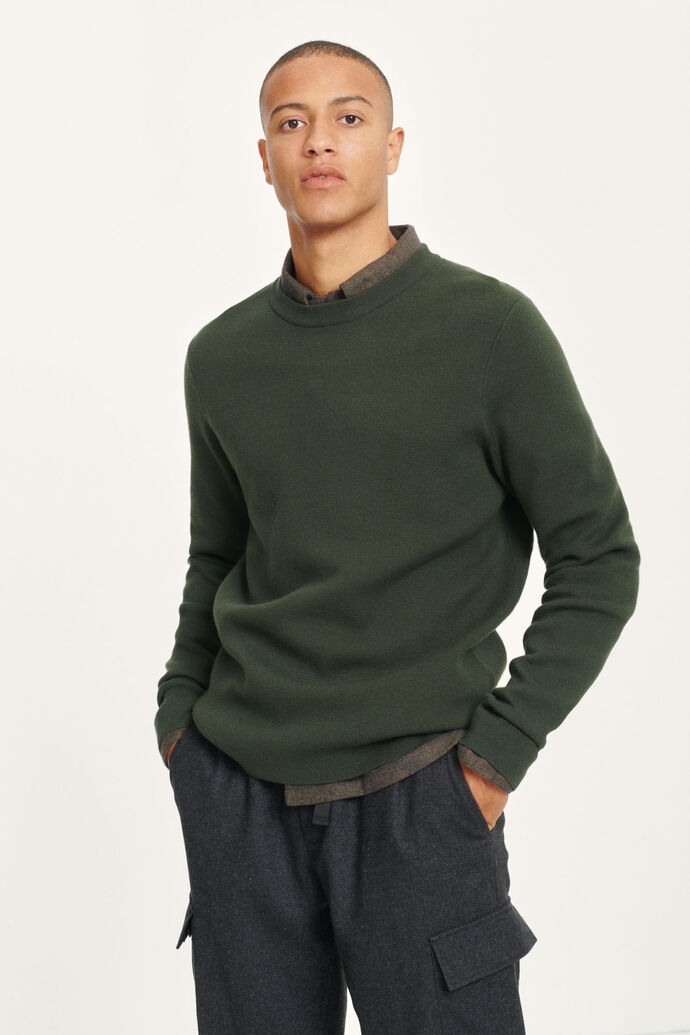 Gunan crew neck 10490, KAMBU GREEN