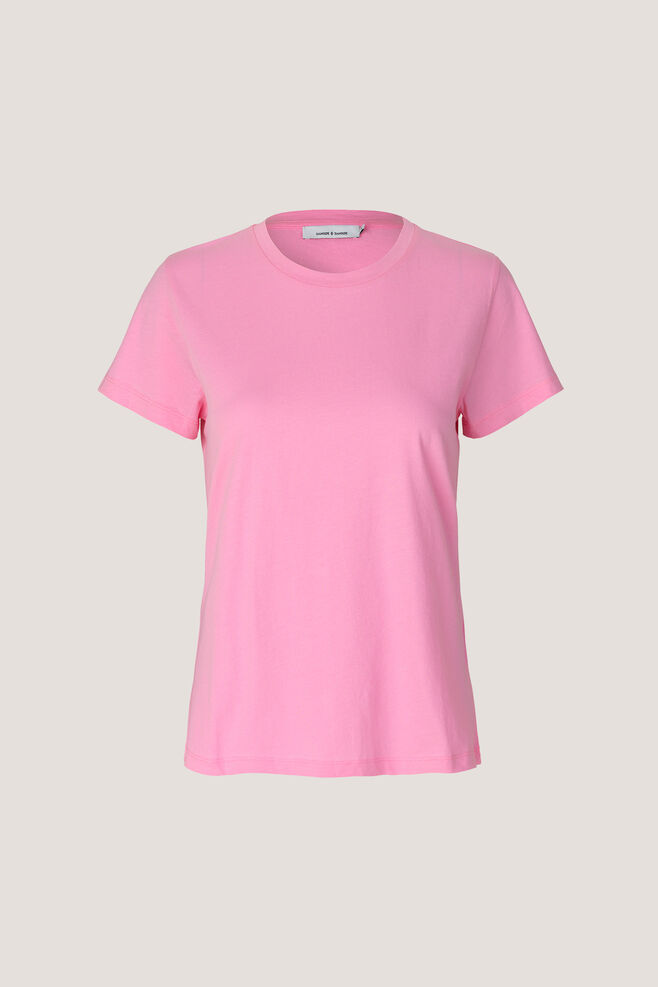 Solly tee solid 205, ROSEBLOOM