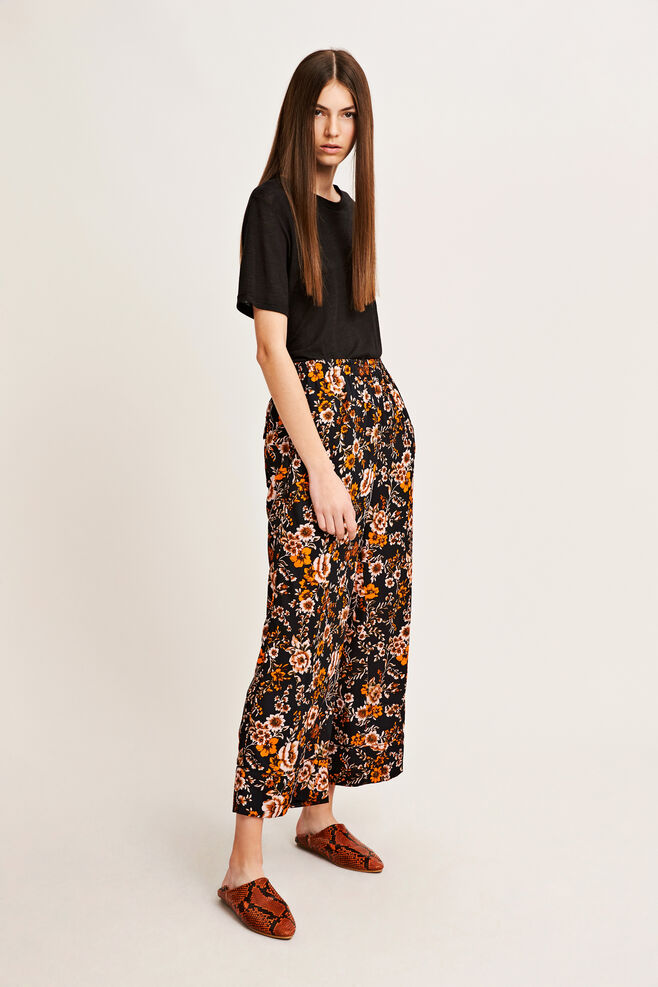 Karri pants aop 9710, BLACK BLOOM