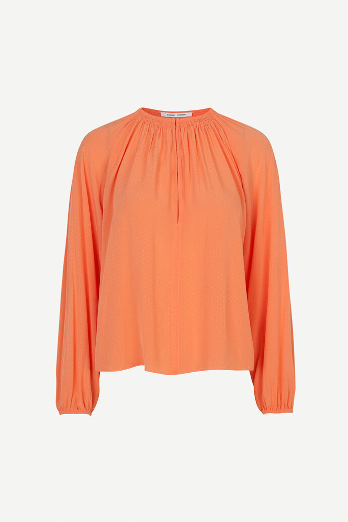 Kaia blouse 10458, BRIGHT CORAL