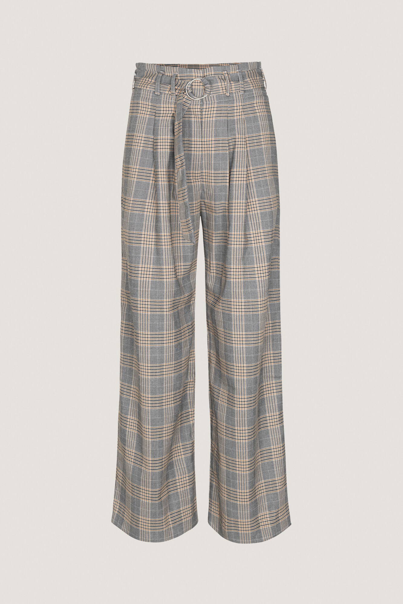 Mella pants 10621, ORANGE CHECK