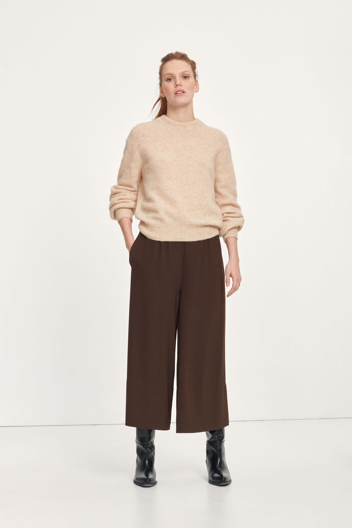 Jaci crew neck 12757, WINTER WHEAT MEL.
