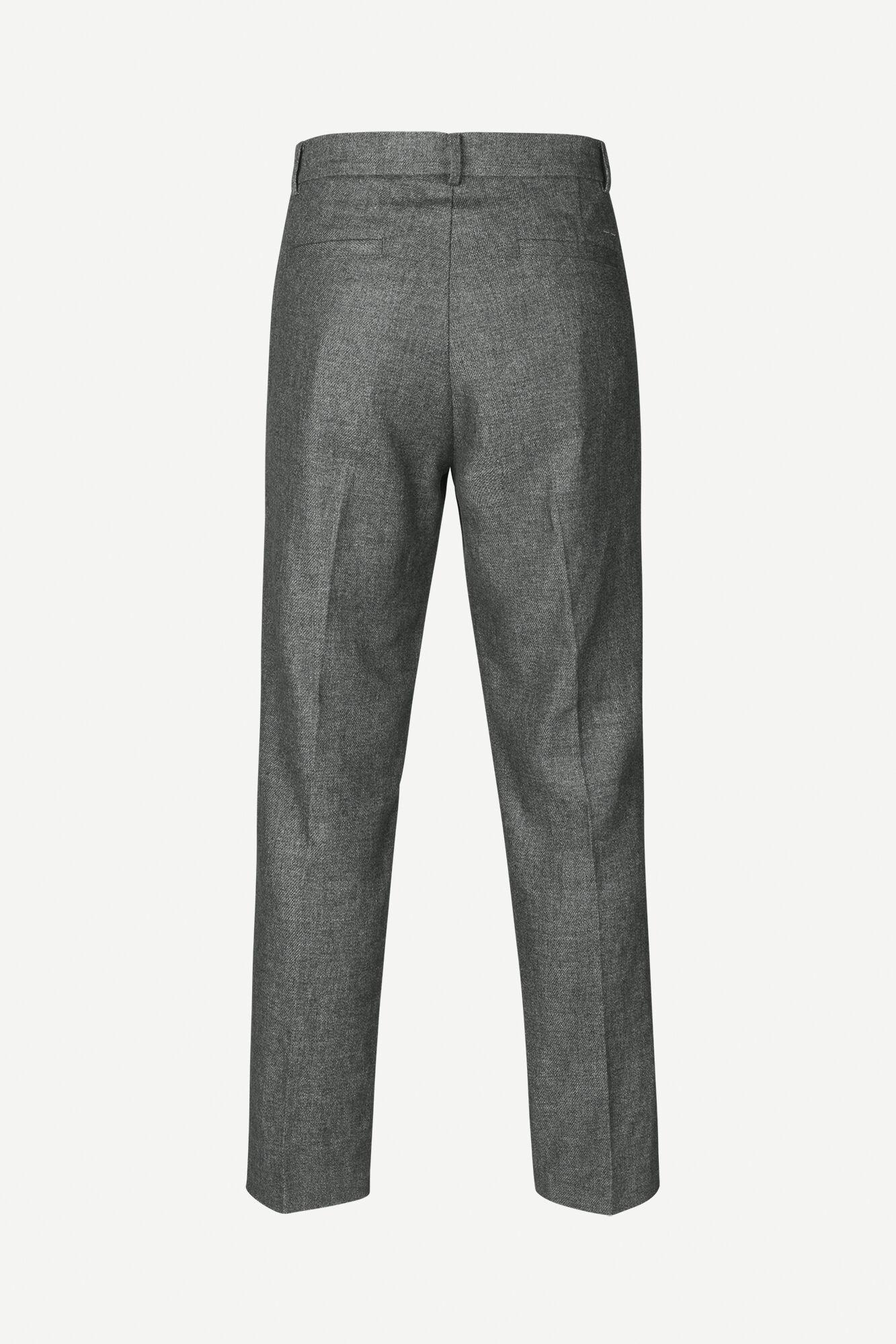 Lincoln wide trousers 12973, GUNMETAL MEL.