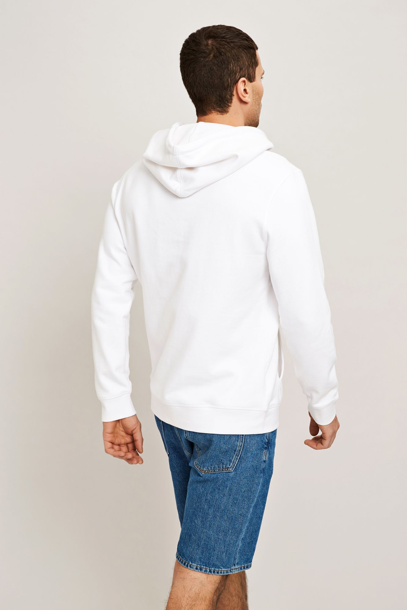 Futurist hoodie 7435, WHITE SUPER
