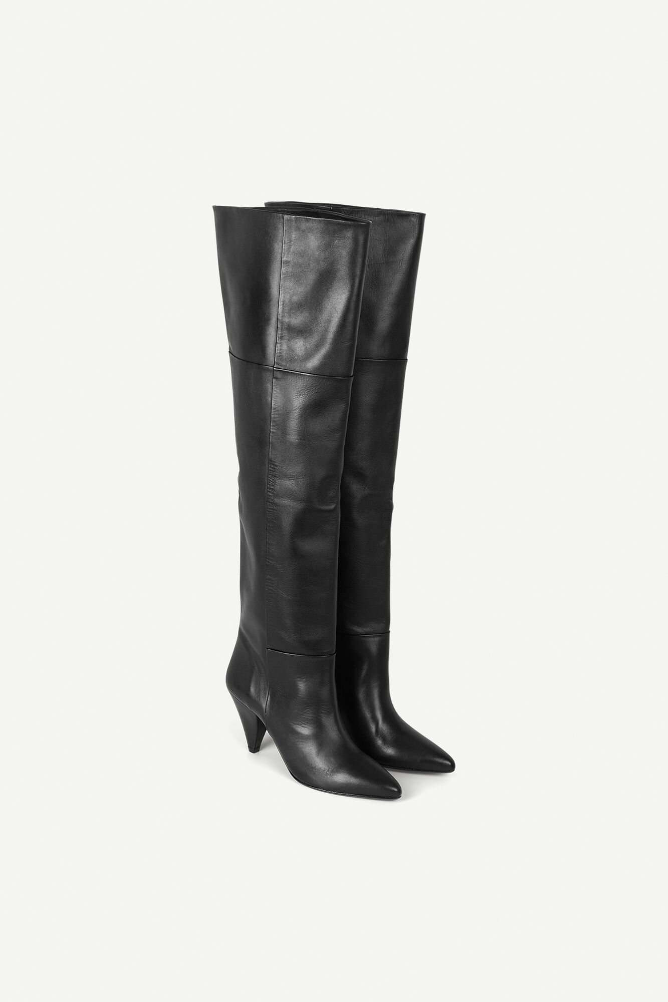 Myrassa boot knee 7556, BLACK