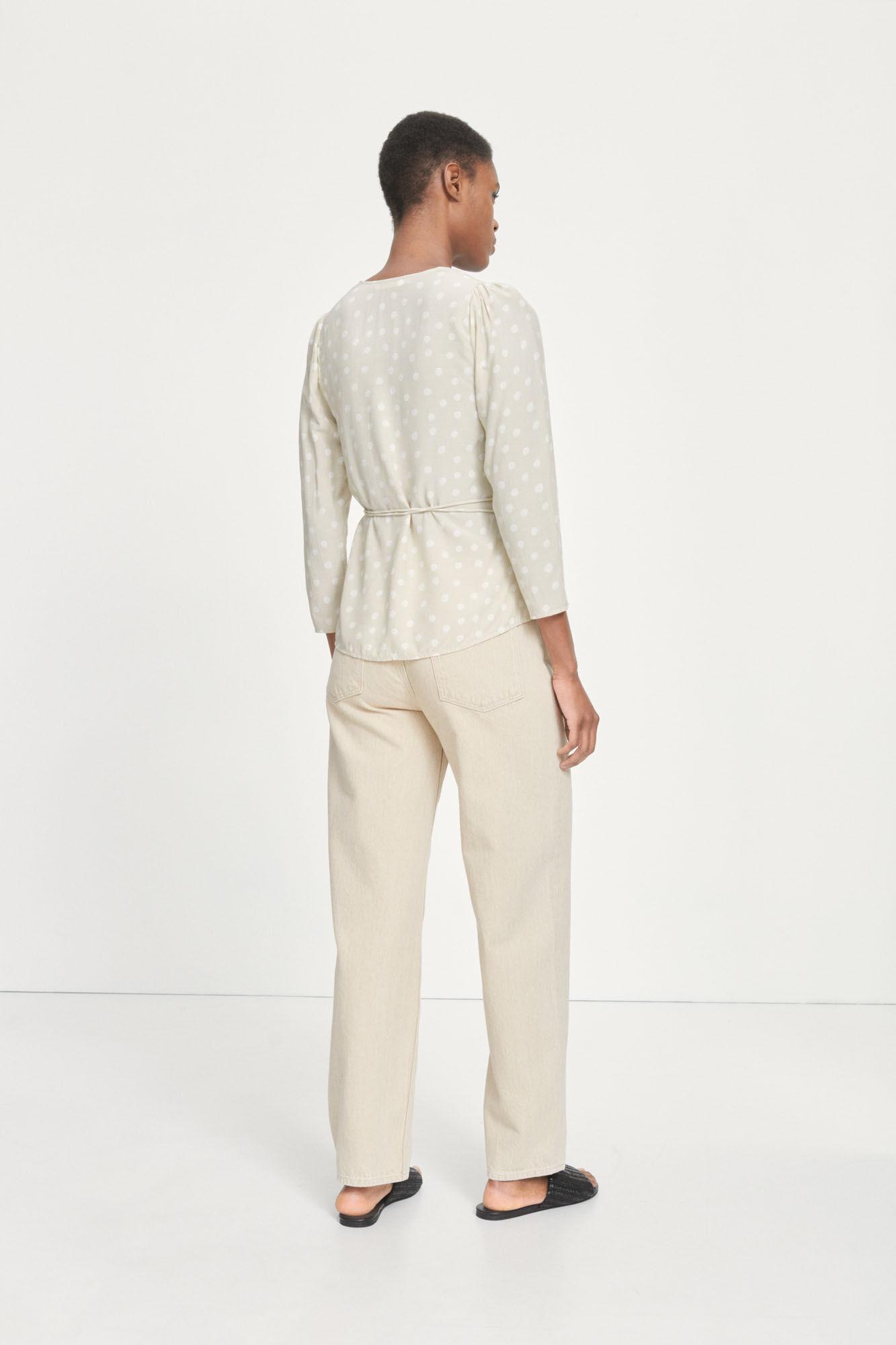Britt wrap blouse aop 10864