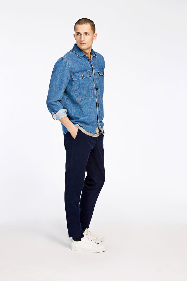 Waltones overshirt 8178, DENIM BLUE