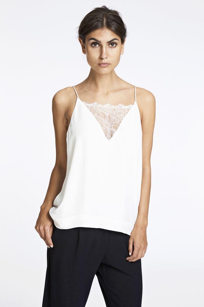 Biaf lace top 6891, CLEAR CREAM