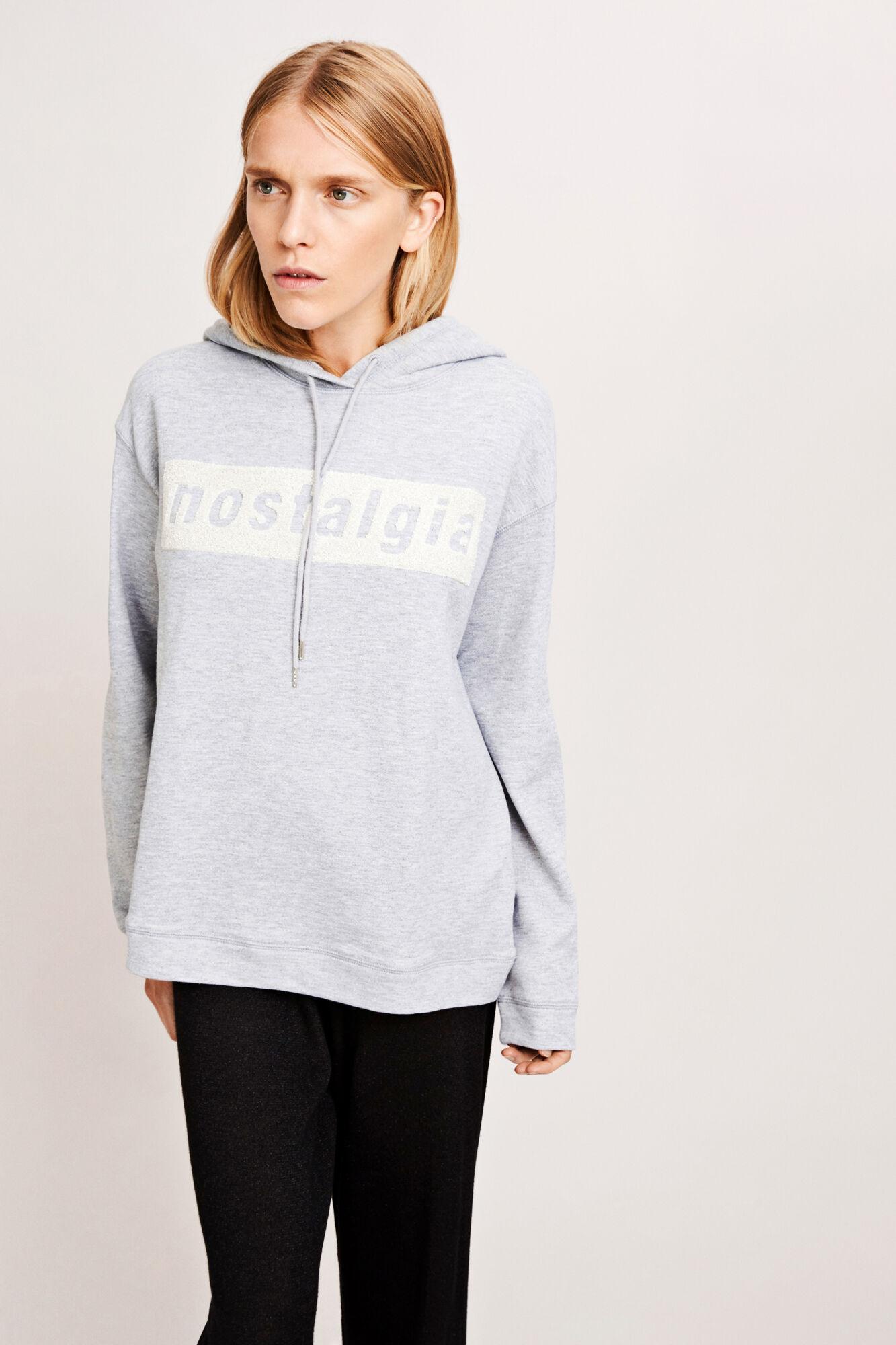 Apo hoodie 7841, GREY MEL.