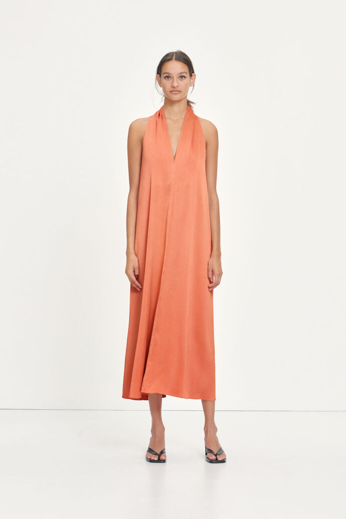 Cille dress 13096, APRICOT BRANDY