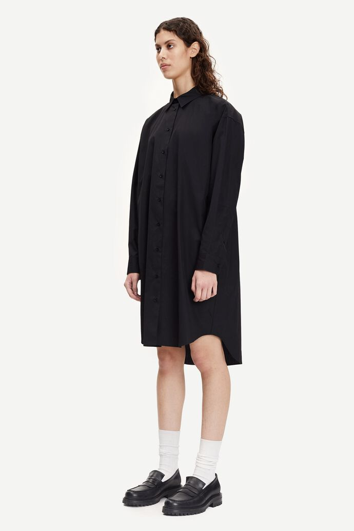 Luana shirt dress 11468, BLACK numéro d'image 3