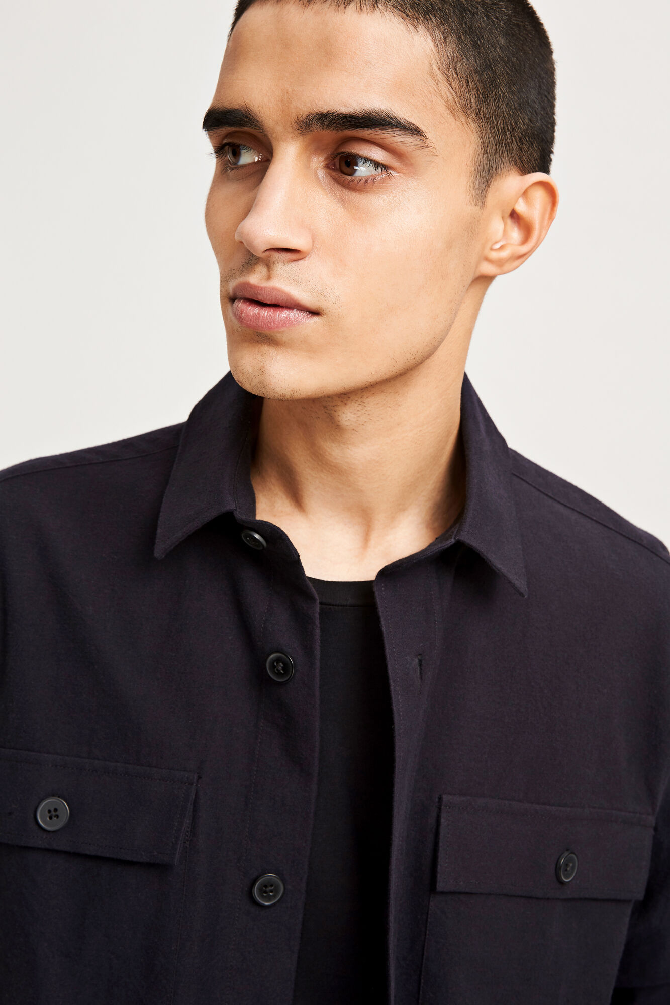 Waltones overshirt 9960, BLACK