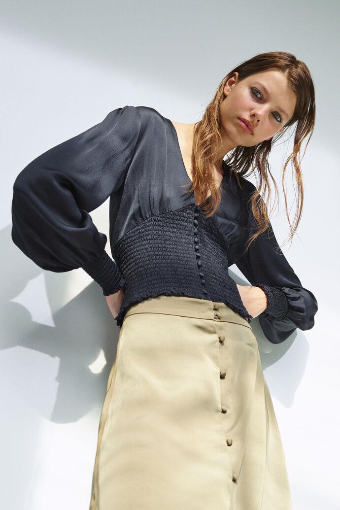 Leila blouse 12887, SKY CAPTAIN