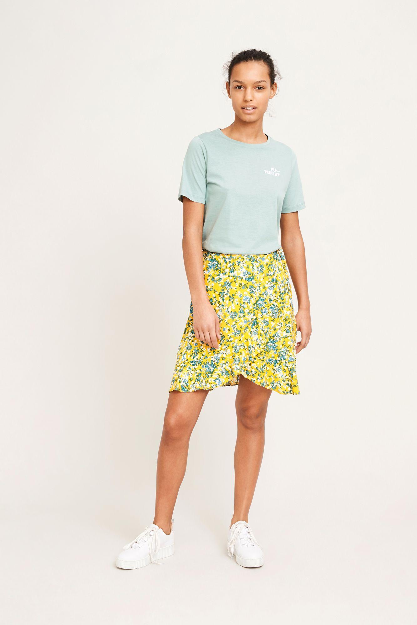 Limon s wrap skirt aop 6515, SOLEIL JARDIN