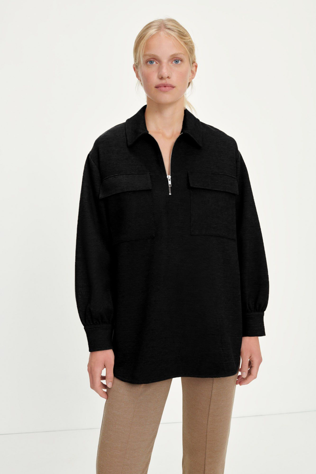 Jessy shirt 13055, BLACK