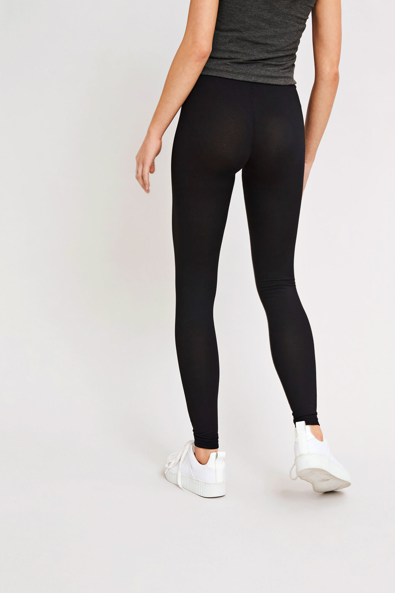 Leggy long solid 265, BLACK