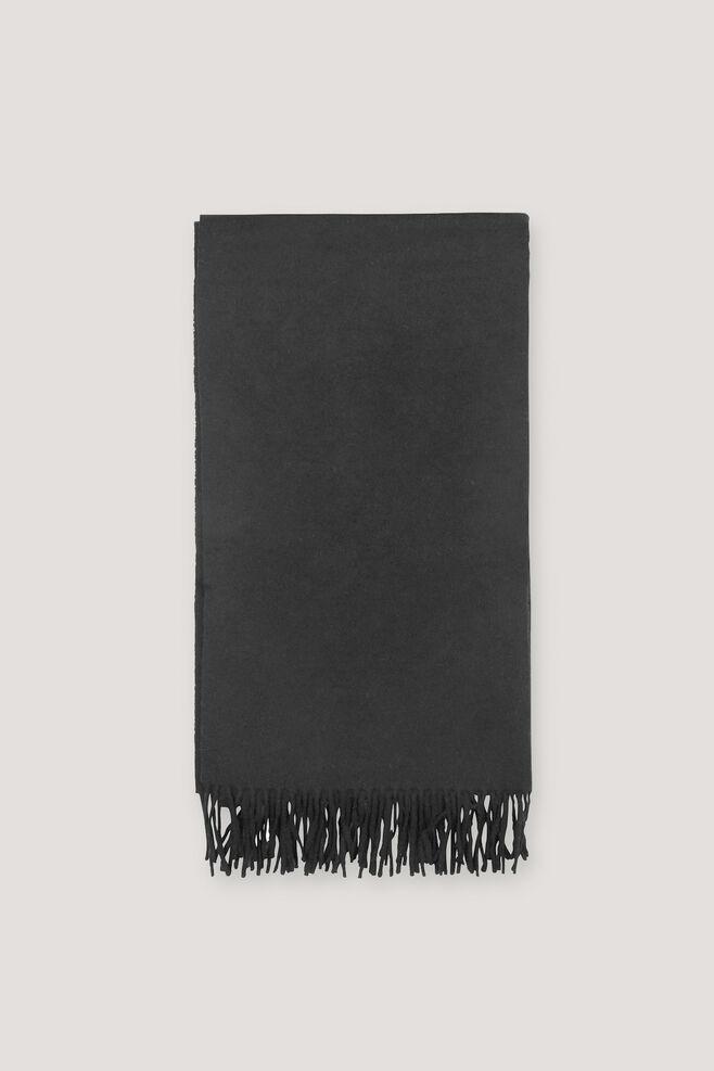 Accola maxi scarf 2862, BLACK