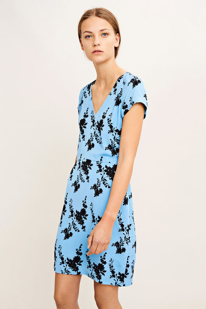Frida vn dress aop 8083, BLUE BLOOM