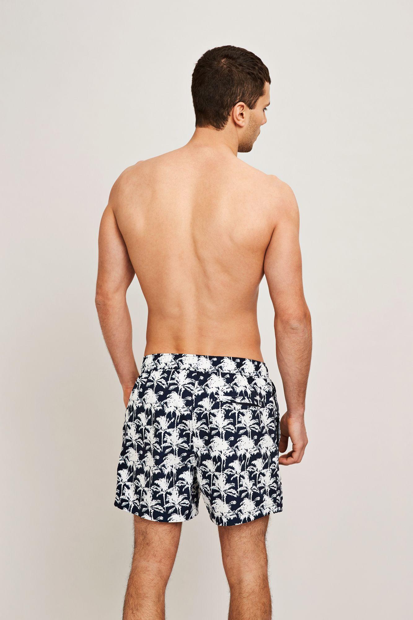 Mason swim shorts aop 6956, BLEU PALMIER AOP