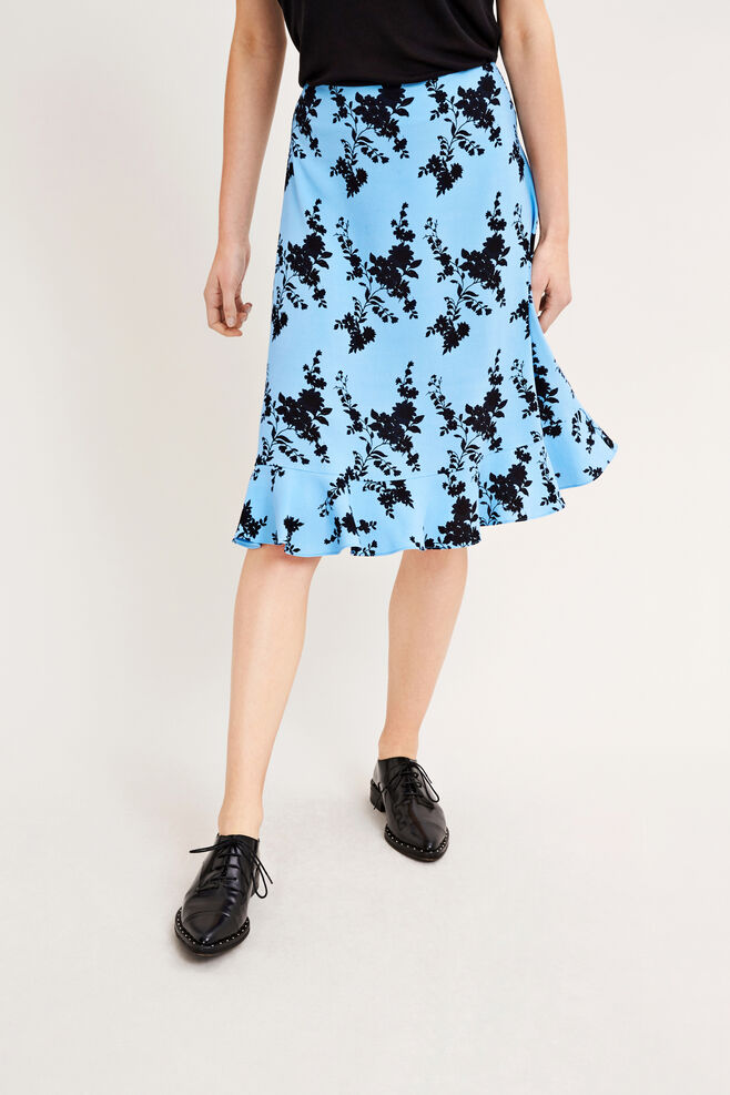 Limon skirt aop 6515, BLUE BLOOM