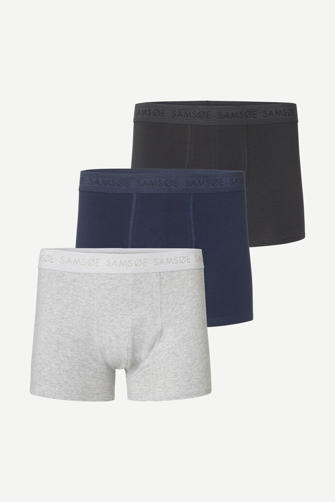 Trunk 3-pack 3702, BLACK/BLUE/GREY MEL.