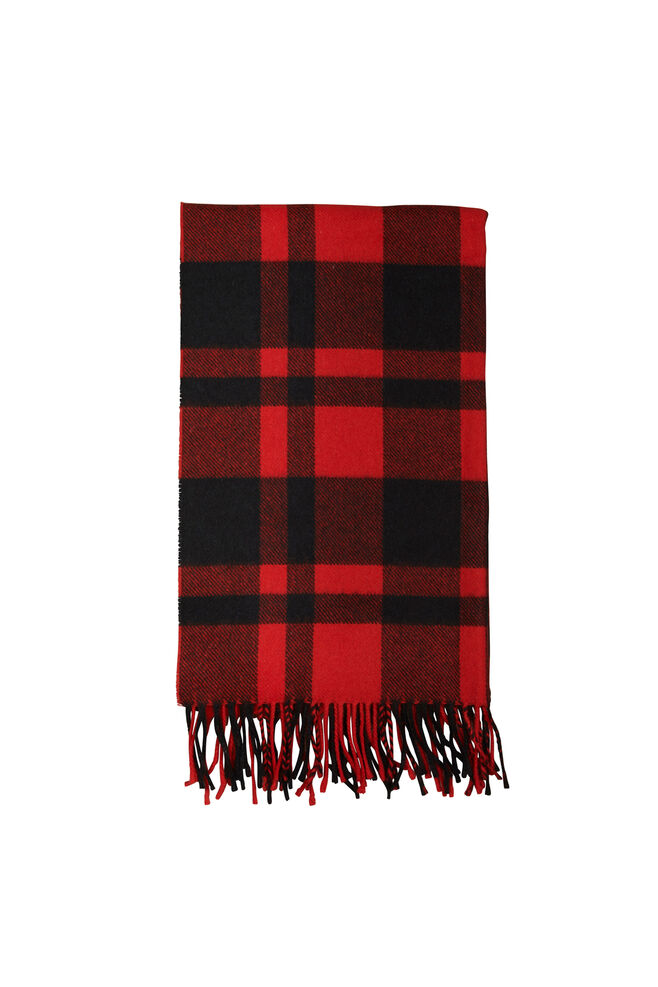 Efin check scarf 2862, HIGH RISK RED