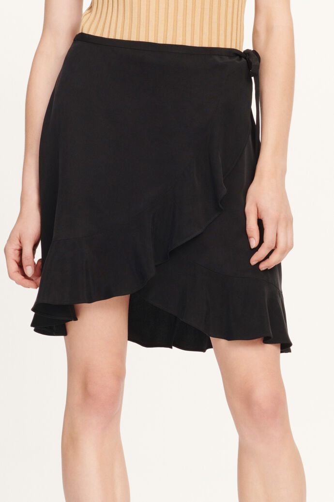 Limon s wrap skirt 11464, BLACK